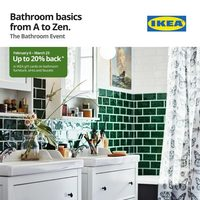 IKEA - The Bathroom Event - Bathroom Basics From A To Zen Flyer
