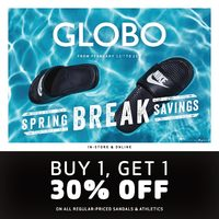 Globo Shoes - Spring Break Savings Flyer