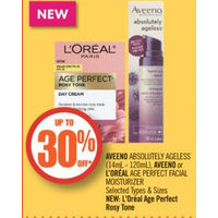 Aveeno Absolutely Ageless, Aveeno Or L'oréal Age Perfect Facial Moisturizer