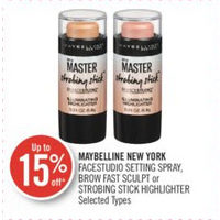 Maybelline New York Facestudio Setting Spray, Brow Fast Sculpt Or Strobing Stick Highlighter