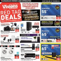 Visions Electronics - Weekly - Red Tag Deals Flyer