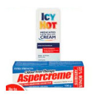 Aspercreme or Icy Hot Topical Pain Relief Products