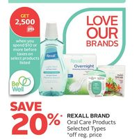 Rexall Brand Oral Care Products