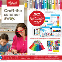 Michaels - Craft The Summer Away Flyer