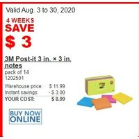 3M Post-It 3 In. X 3 In. Notes