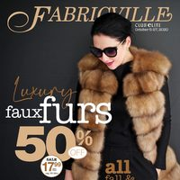 Fabricville - Club Elite Members Only - Luxury Faux Furs Flyer