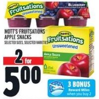 Mott's Fruitsations Apple Snacks