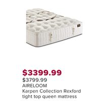 Aireloom Karpen Collection Rexford Tight Top Queen Mattress