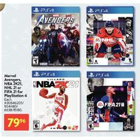 Marvel Avengers, NBA 2K21, NHL 21 Or FIFA 21 For PlayStation 4