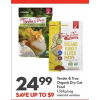 Tender & True Organic Dry Cat Food