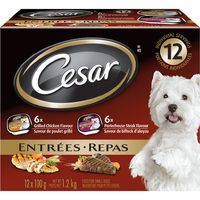 Cesar Dog Food or Dentastix Dog Treats