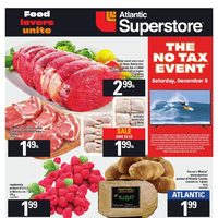 Atlantic Superstore - Weekly - The No Tax Event Flyer