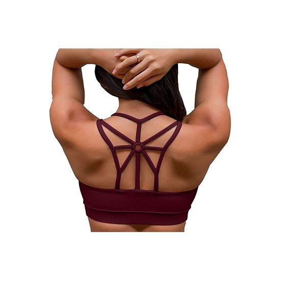 5. Also Consider: YIANNA Sports Bras for Women Cross Back Padded Sports Bra
