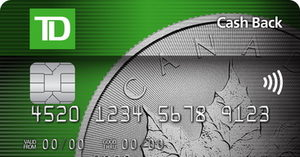 [TD® Cash Back Visa* Card] Earn Cash Back Dollars. Redeem them to help pay down your Account balance.