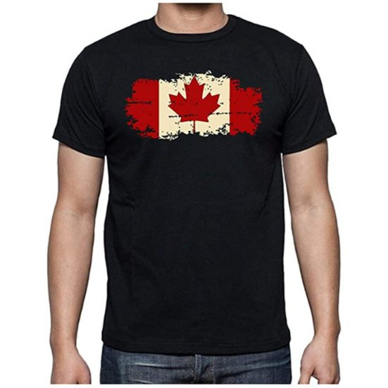 2. Runner Up: Canada Flag - Funny Canadian Maple Leaf - Patriotic 1st July Canada Day Pride Novelty Mens T-Shirt