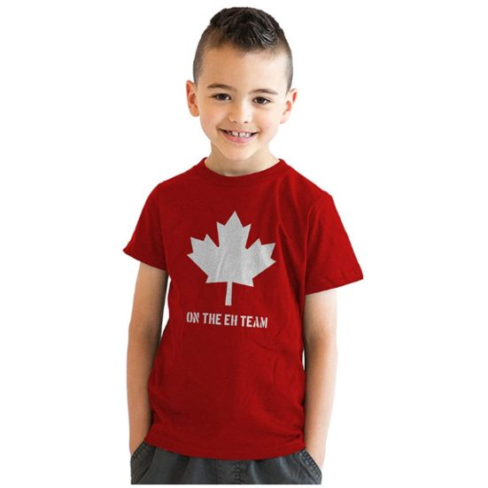 4. Best Apparel Gift for Kids: Youth Eh Team Canada T Shirt