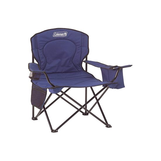 1. Editor's Pick: Coleman Camping Chair with Built-in 4 Can Cooler
