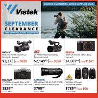Vistek - September Clearance Sale Flyer