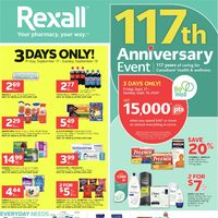 Rexall - Weekly Savings - 117th Anniversary Event Flyer