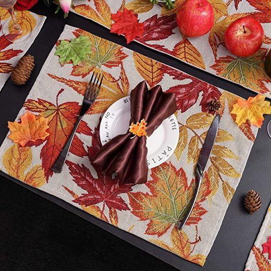 8. Best Thanksgiving Placemats: Searching Roads Fall Placemats