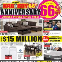 Bad Boy Furniture - 66th Anniversary Sale Flyer