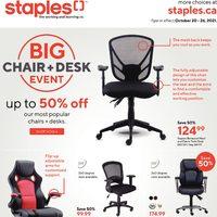 Staples - Weekly Deals - Big Chair + Desk Event Flyer