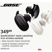 Bose Quietcomfort Noise-Cancelling True Wireless Earbuds
