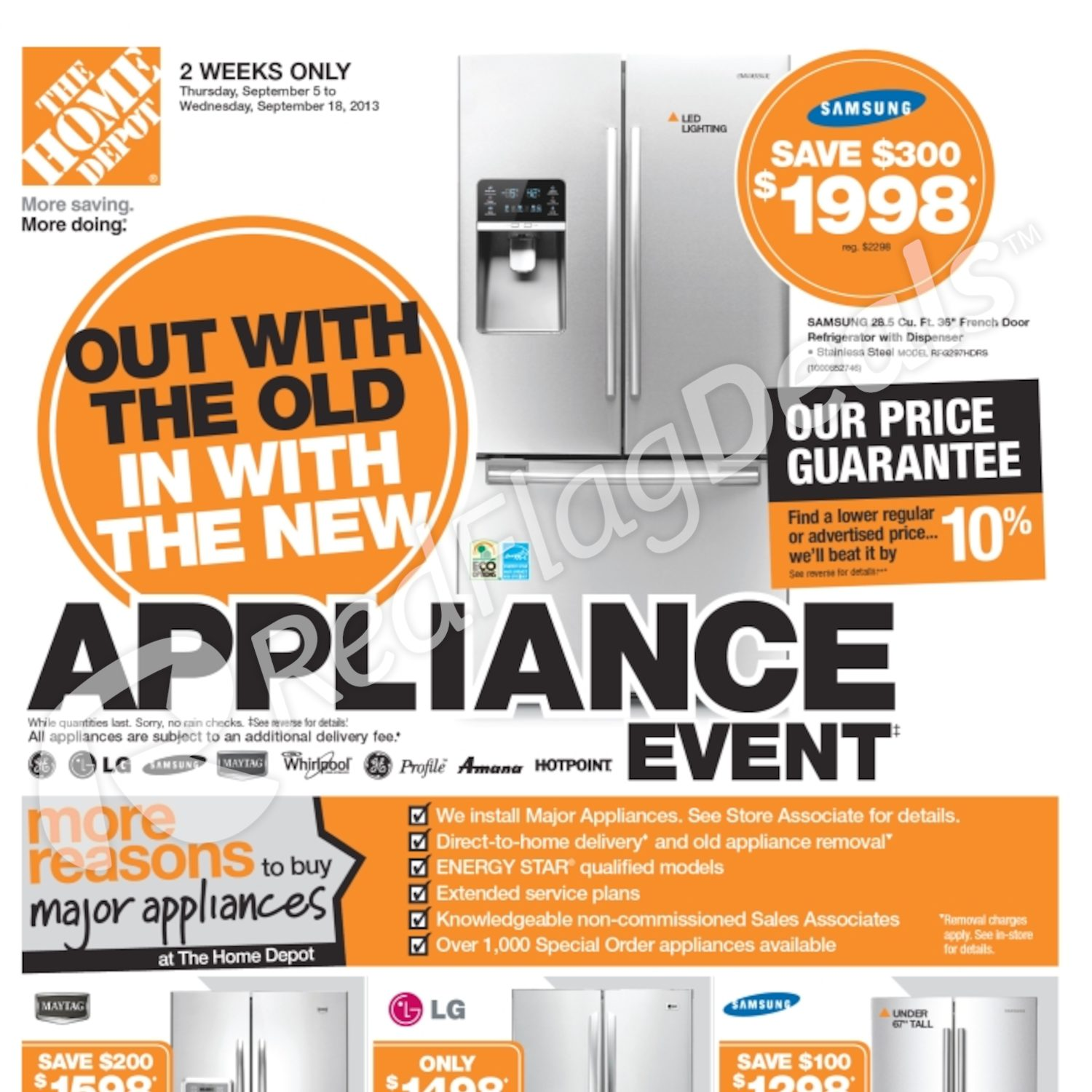 Home Depot Weekly Flyer Appliance Event Sep 5 – 18