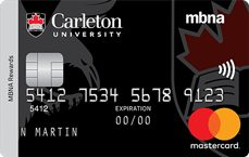 Carleton University MBNA Rewards Mastercard® credit card
