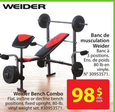 Walmart Weider Bench Combo Redflagdealscom