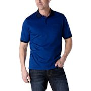 Denver Hayes - Short-sleeve Optical Diamond Jacquard Polo - $14.88