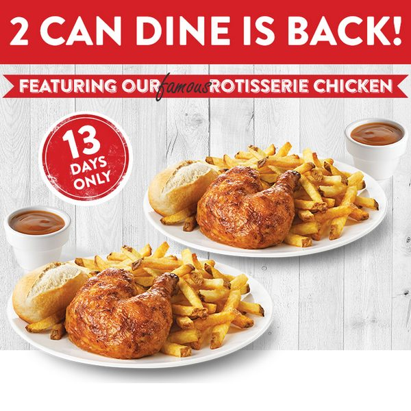 swiss chalet coupons 2 can dine for 14.99