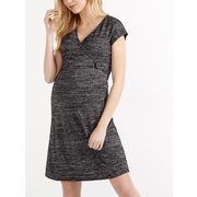 Cap Sleeve Maternity Dress With Knotted Detail - $41.99 ($27.91 Off)