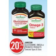20% Off Jamieson Glucosamine, Omega or Probiotic Products