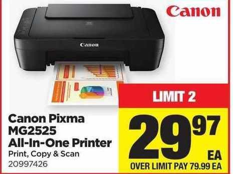 Real Canadian Superstore Canon Pixma Mg2525 All In One Printer
