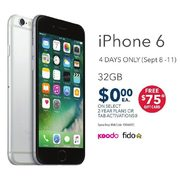 Koodo or Fido iPhone 6 32GB - $0.00 w/ Select 2-yr Plans
