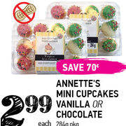 Annette's Mini Cupcakes Vanilla Or Chocolate   - $2.99 ($0.70  off)