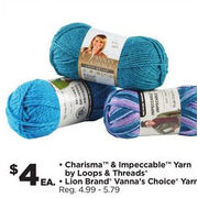 Michaels: Loops & Threads Charisma & Impeccable Yarn, Loin