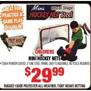 Childrens Mini Hockey Nets - $29.99 ($50.00 off)