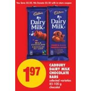 Cadbury Dairy Milk Chocolate Bars - $1.97