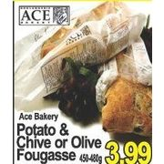 ACE Bakery Potato & Chive or Olive Fougasse - $3.99