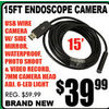 Endoscope Camera - $39.99