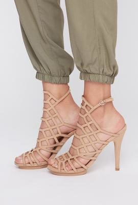 76d9f55dc09 Urban Planet Geometric Caged Faux-suede Stiletto Heel -  20.00 ( 19.99 Off) Geometric  Caged Faux-suede Stiletto Heel