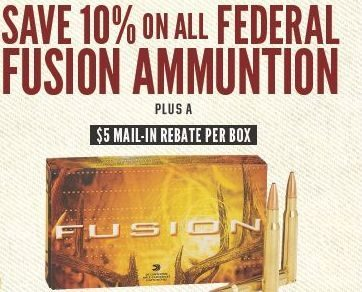 Cabelas All Federal Fusion Ammuntion 10 Off