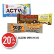 20% Off Selected Energy Bars