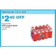 271f09b958 Costco General Mills Yop Yogurt Drink -  2.40 off General Mills Yop Yogurt  Drink. get this deal
