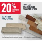 20% Off All In-Stock Vinyl Flooring