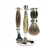 Perma Brand Mach3 Brown 3-pieces Horn Finish Shaving Set - $87.98 ($22.01 Off)