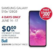 Bell Samsung Galaxy S10e 128GB - $0.00 w/ Select 2-yr Ultra Plans, 4-Days Only