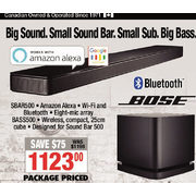 Bose Soundbar System - $1123.00 ($75.00 off)